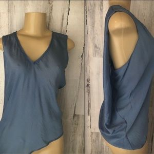 Elie Tahari Savannah Silk Blouse Blue